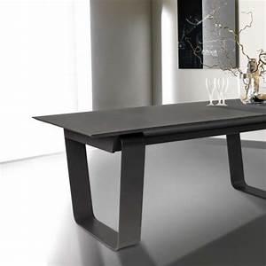 Table En Acier : table basse rectangulaire en c ramique et acier cobalt 4 ~ Teatrodelosmanantiales.com Idées de Décoration