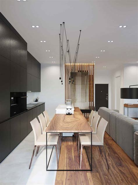 Design Wohnung by Modern Bachelor Pad With Dramatic Design Features In Kiev