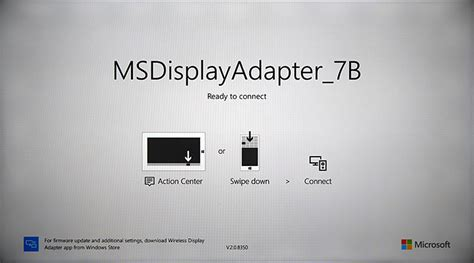 gadget bureau windows problème connexion microsoft wireless display adapter