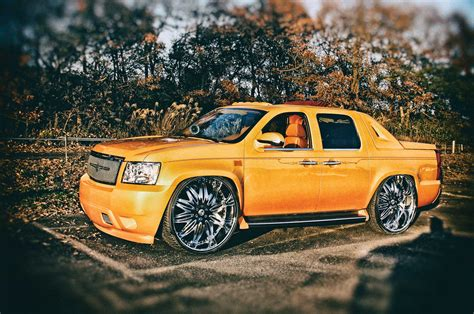 chevrolet avalanche japanese gold lowrider