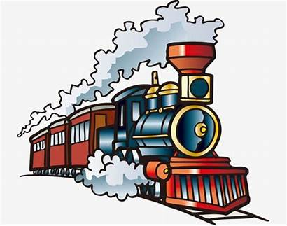 Train Cartoon Clip Steam Clipart Transparent Locomotive
