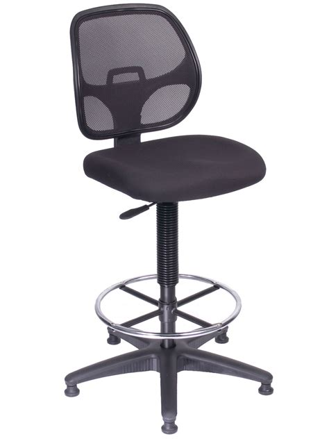 office direct qld west diablo duo mesh back black chair