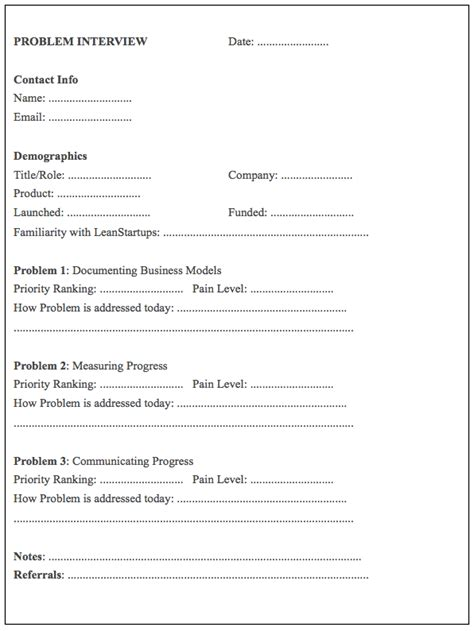 phone interview form template interview