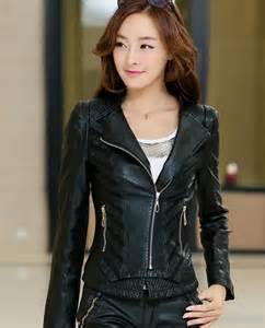 Short Black Leather Jackets Girls