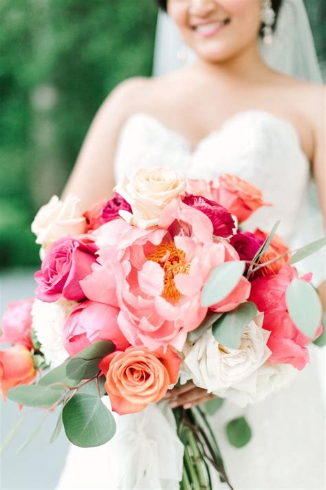 Coral Charm Peony Bouquet
