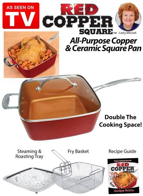 red copper  piece cookware set    tv drleonardscom