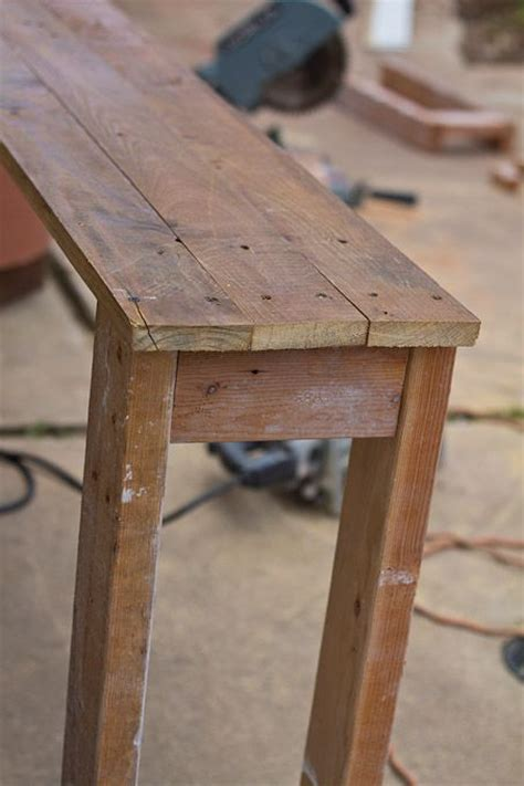 diy rustic console table woodworking projects plans