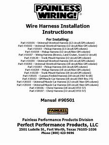 Painless Wiring Harness Install Instructions