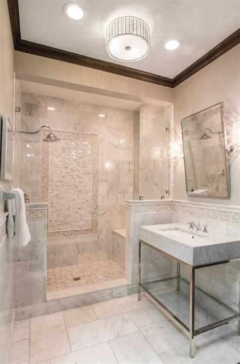 elegant themed bathroom tile design hampton carrara