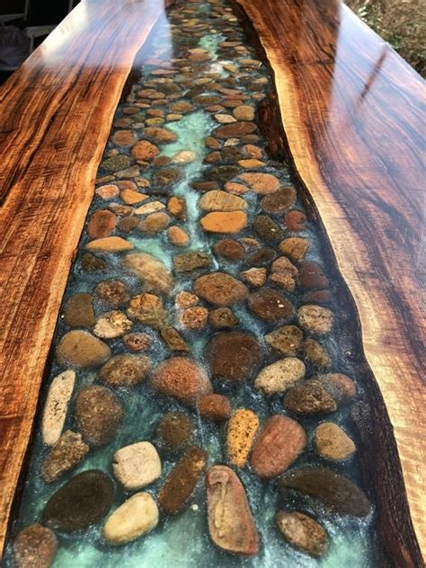 walnut  edge river table  stone   products