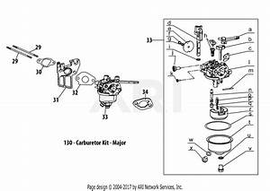 Mtd 21aa40m7752  2015  Parts Diagram For 170