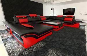 Sofa Dreams : leather sectional sofa enzo xxl black red ~ A.2002-acura-tl-radio.info Haus und Dekorationen