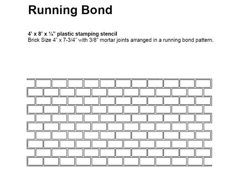 running bond brick pattern yonkers paving concepts inc thermo print