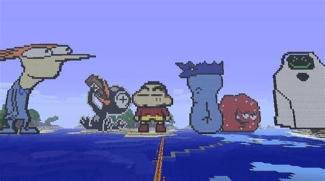 Adult Swim Toons Shinchan ATHF Superjail Minecraft
