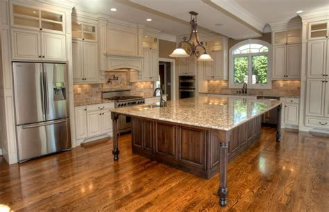 Angled kitchen island photos