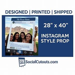 Printed And Shipped Instagram Style Cutout Frame #2507735 ...