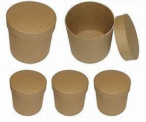 Runde Schachtel Basteln : 3er set hohe runde roh schachteln zum bemalen bekleben basteln verpacken eur 8 00 picclick de ~ Frokenaadalensverden.com Haus und Dekorationen