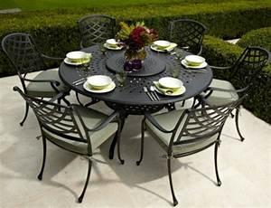 Gartenmöbel Tisch Rund : gartenm bel set alu gehobene eleganz im garten ~ Indierocktalk.com Haus und Dekorationen