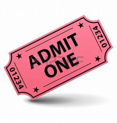 Ticket Admit Clipart Pink Tickets Stub Cartoon