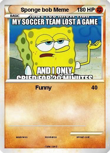 Pokemon Card Meme - pok 233 mon sponge bob meme funny my pokemon card