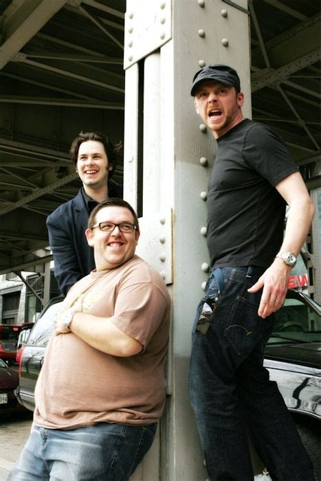 phrases from hot fuzz simon pegg nick frost and edgar wright on the set of quot hot