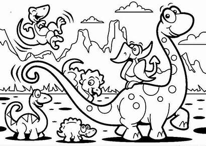 Coloring Dinosaur Pages Printable Preschool Sheets Adult