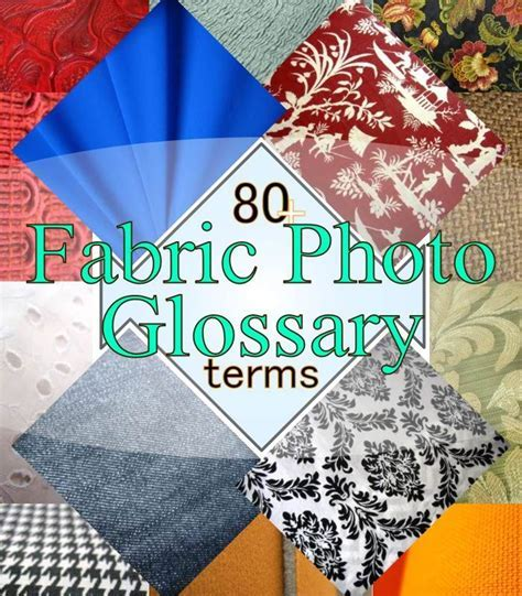 Very handy reference  Fabric Photo Glossary to help you