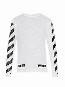 f69c94cf19c46b off white c o virgil abloh striped long sleeved t shirt in white for men  lyst