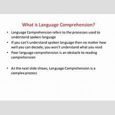 Reading Comprehension Impairment