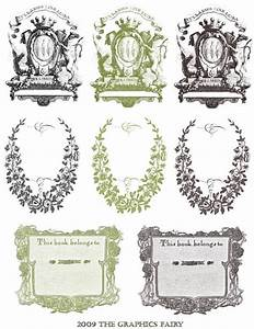 free printable vintage bookplates the graphics fairy With free bookplate template
