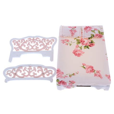 Bed Pillow Table by 12th Doll House Miniature Furniture Mattress Bed Sofa