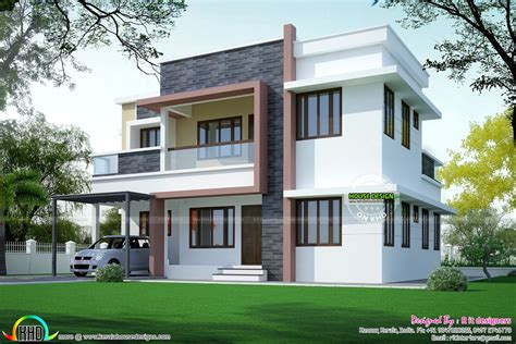 A Simple Modern Home With A Lot Of Personality Is For A And Their by Simple Home Plan In Modern Style Kerala Home Design And