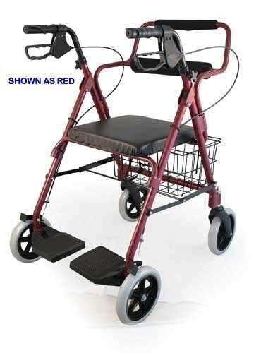 300 Lb Capacity Rollator Transport Chair Combo by Bantex Transport Rollator Walker Chair Wheelchair 3 In