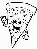 Pizza Coloring Pages Printable Colouring Slice Shopkins Steve Adults Italian Happy Delicious sketch template