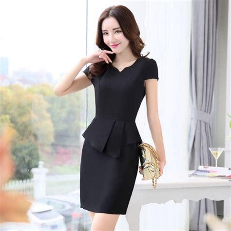 korea design formal office lady work dress desk service
