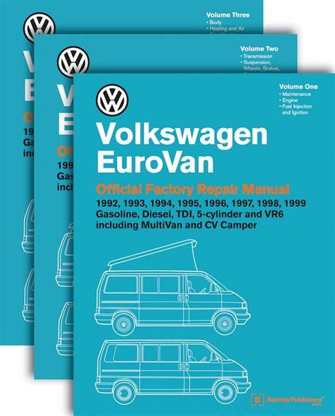 free car repair manuals 1995 volkswagen eurovan free book repair manuals volkswagen eurovan official factory repair manual 1992 1999