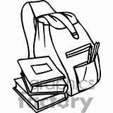 Backpack Clipart Books Outline Cartoon Bag Drawing Clip Bookbag Getdrawings Bw Clipartmag Library sketch template
