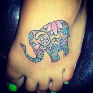 30+ Elephant Tattoos On Foot