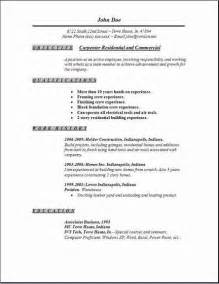carpenter resume objective exles carpenter resume exles sles free edit with word
