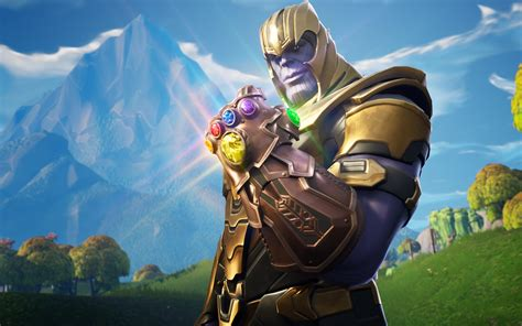 wallpapers thanos  fortnite warrior