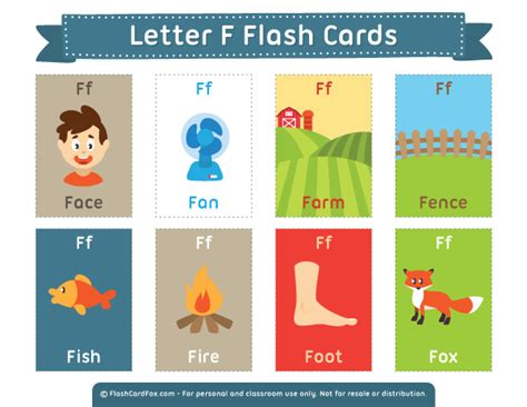 Printable Letter F Flash Cards