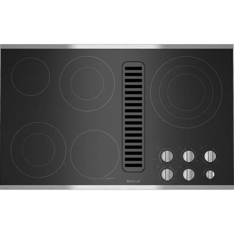 downdraft exhaust fan for cooktop electric radiant downdraft cooktop 36 quot jenn air
