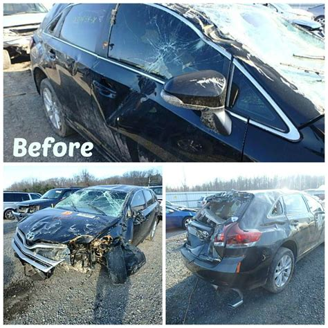 wrecked car before and after before and after repairs or how our clients rebuild their cars