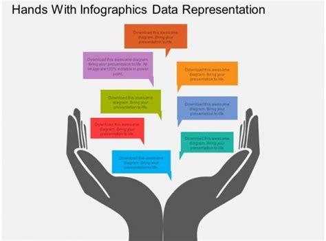 rf hands  infographics data representation flat