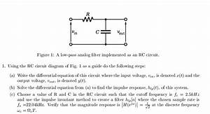 Solved  Using The Rc Circuit Diagram Of Fig  1 As A Guide
