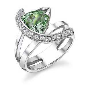 schneider engagement rings schneider design style 1536000006 white gold engagement ring with green tourmaline center