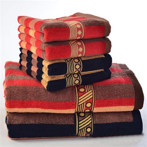 linens bathroom sets aliexpress buy jzgh 3pcs bohemia cotton bath towels