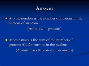 Atomic Number Protons and Neutrons
