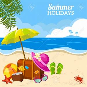 Sunny clipart summer holiday - Pencil and in color sunny ...