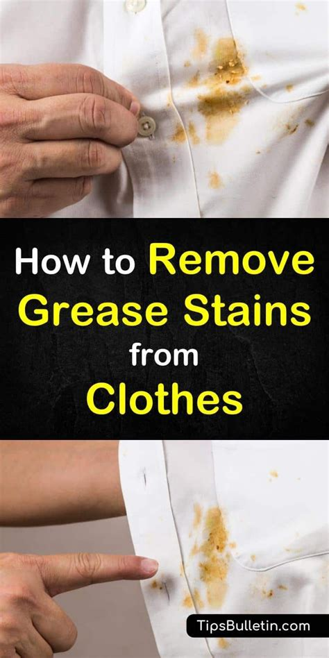 clever ways  remove grease stains  clothes